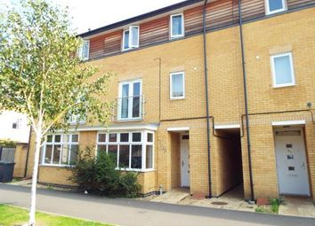 Thumbnail 4 bedroom town house for sale in Four Chimneys Crescent, Hampton Vale, Peterborough, Cambridgeshire