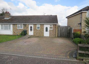 Thumbnail 3 bed semi-detached bungalow for sale in Lamble Close, Beck Row, Bury St. Edmunds