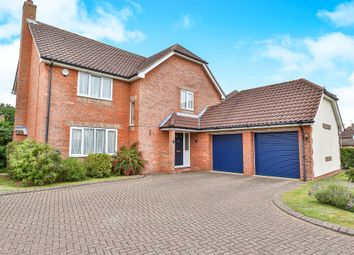 Thumbnail 4 bed detached house for sale in Badgers Brook Road, Drayton, Norwich