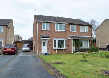 Thumbnail 3 bed semi-detached house for sale in Roxholm Close, Ruskington, Sleaford