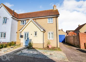 Thumbnail 2 bed semi-detached house for sale in Churchfields Road, Long Stratton, Norwich