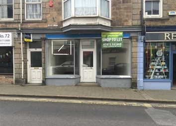 Thumbnail Retail premises to let in 70, Trelowarren Street, Camborne, Cornwall