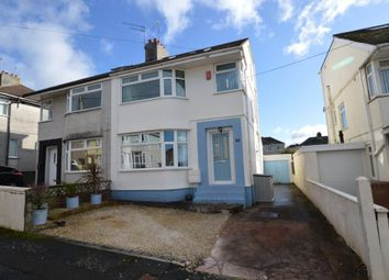 3 bed semi-detached house for sale in Reigate Road, Plymstock, Plymouth, Devon PL9