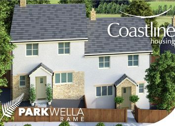 Thumbnail 3 bed semi-detached house for sale in Rame Cross, Penryn