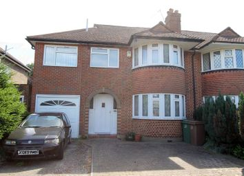 Thumbnail 5 bed semi-detached house for sale in Tabor Gardens, Cheam, Sutton