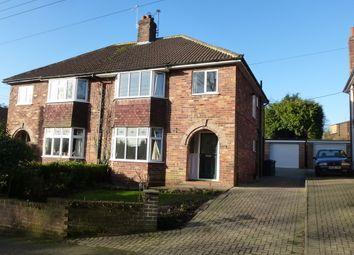 Thumbnail 3 bed semi-detached house to rent in Bonneycroft Lane, Easingwold, York