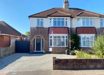 Thumbnail 3 bed semi-detached house for sale in Broomfield Avenue, Broadwater, Worthing