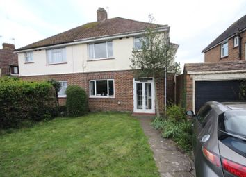 Thumbnail 3 bed semi-detached house to rent in Upper Brighton Road, Broadwater, Worthing