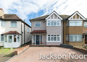 Thumbnail 3 bed semi-detached house for sale in Shawford Road, West Ewell, Epsom
