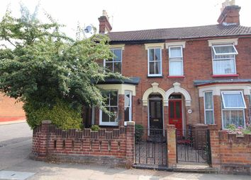 Thumbnail 2 bedroom end terrace house for sale in Cemetery Road, Ipswich