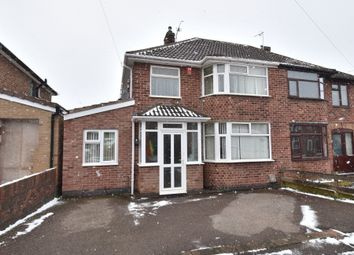 Thumbnail 4 bed semi-detached house for sale in Lynmouth Road, Netherhall, Leicester