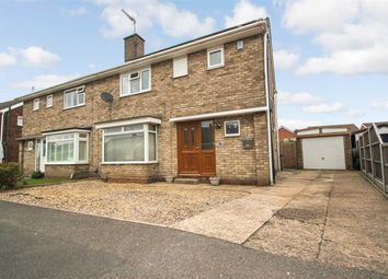 Thumbnail 3 bed semi-detached house for sale in Matlock Drive, North Hykeham, Lincoln