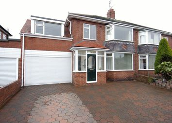 Thumbnail 4 bed semi-detached house for sale in West Dene Drive, North Shields