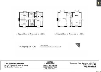 Thumbnail 3 bed detached house for sale in Broome, Bungay, Norfolk
