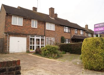 Thumbnail 4 bed semi-detached house for sale in Burghley Avenue, Borehamwood
