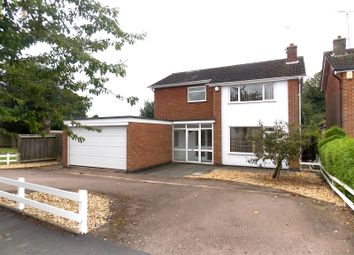 Thumbnail 4 bed detached house to rent in Coombe Rise, Oadby, Leicester