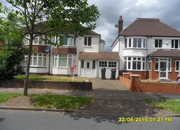 Thumbnail 3 bed semi-detached house to rent in Perry Avenue, Perry Barr, Birmingham