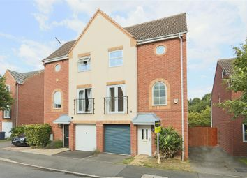 Thumbnail 3 bed town house for sale in Burberry Avenue, Hucknall, Nottinghamshire