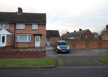 Thumbnail 3 bed terraced house to rent in Tithe Barn Road, Wootton, Bedford