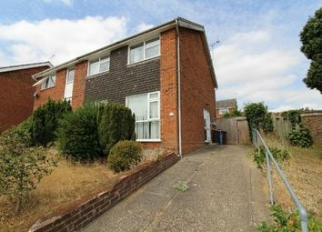Thumbnail 3 bed semi-detached house for sale in Hengrave Close, Ipswich