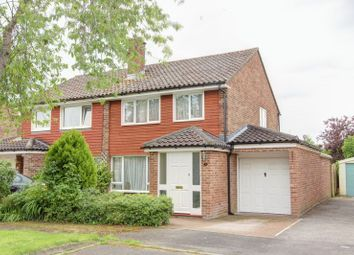 Thumbnail 3 bed semi-detached house for sale in Rowan Close, Whitenap, Romsey, Hampshire