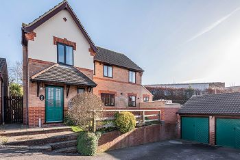 Thumbnail 4 bed detached house for sale in Hillbourne Close, Warminster