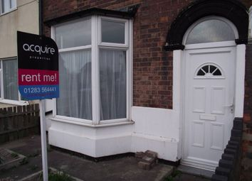 Thumbnail 3 bed terraced house to rent in Horninglow Road, Horninglow, Burton-Upon-Trent
