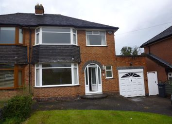 Thumbnail 3 bed semi-detached house to rent in Newnham Rise, Solihull