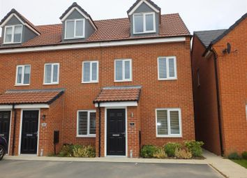 Thumbnail 3 bed town house to rent in Heathley Mews, Winchester Drive, Branston, Burton-On-Trent