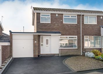 Thumbnail 3 bed semi-detached house for sale in Kelson Way, Chapel Park, Newcastle Upon Tyne