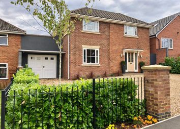 Thumbnail 4 bed detached house for sale in Loverock Crescent, Rugby