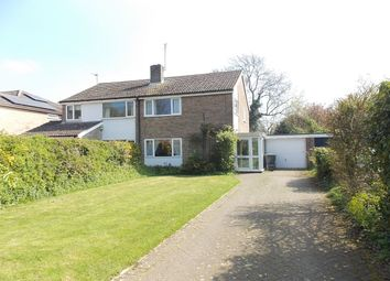 Thumbnail 3 bedroom semi-detached house for sale in Weston Colville Road, Brinkley, Newmarket