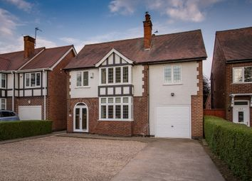 Thumbnail 4 bedroom detached house for sale in Papplewick Lane, Hucknall, Nottingham