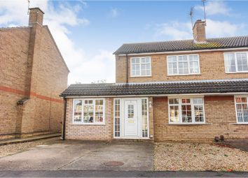 Thumbnail 3 bed semi-detached house for sale in Burghley Park Close, Lincoln