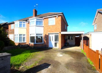 Thumbnail 3 bed semi-detached house for sale in Ilmington Close, Glenfield, Leicester