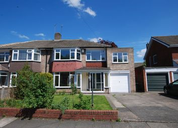 Thumbnail 4 bed semi-detached house to rent in Easedale Avenue, North Gosforth, Newcastle Upon Tyne