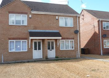 Thumbnail 2 bed semi-detached house to rent in Myles Way, Wisbech, Cambs