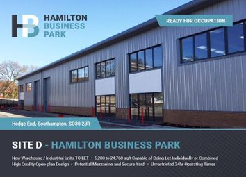 Thumbnail Light industrial to let in Hamilton Business Park, Hedge End, Southampton, Hampshire