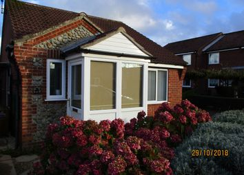 Thumbnail 2 bed detached bungalow to rent in Gorse Close, Mundesley