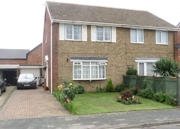 Thumbnail 3 bed semi-detached house for sale in Meadow Drive, Thorpe Willoughby, Selby