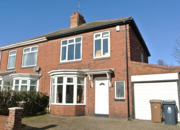 Thumbnail 3 bed semi-detached house to rent in Burnside, Hesleyside Road, South Wellfield, Whitley Bay