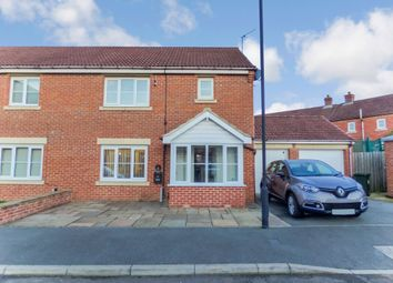 Thumbnail 3 bedroom semi-detached house for sale in Greenrigg Place, Shiremoor, Newcastle Upon Tyne