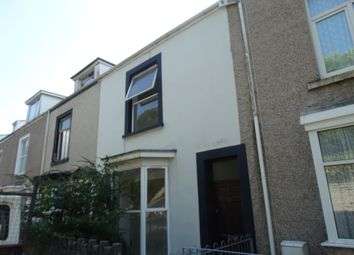 Thumbnail 1 bed terraced house to rent in Devon Terrace, Ffynone Road, Uplands, Swansea