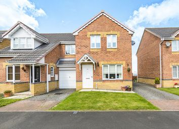 Thumbnail 3 bed semi-detached house for sale in St. Ives Gardens, Leadgate, Consett