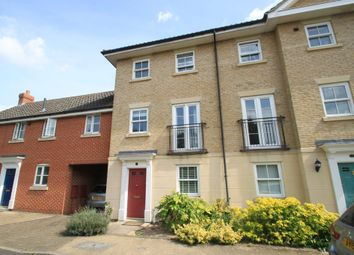 Thumbnail 3 bedroom town house for sale in Bulrush Crescent, Bury St. Edmunds