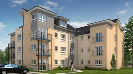 Thumbnail 2 bedroom flat for sale in Apartments 3 & 9, Baron's Gate, Leven Street, Motherwell, North Lanarkshire