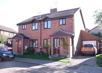 Thumbnail 3 bed semi-detached house for sale in Surrey Close, Framlingham, Woodbridge, Suffolk