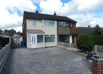 Thumbnail 3 bed semi-detached house to rent in Ribble Close, Culcheth, Warrington