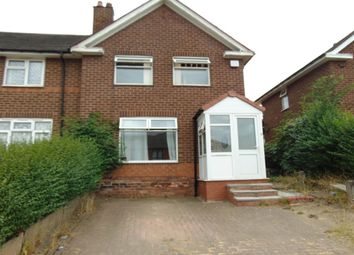 Thumbnail 3 bed semi-detached house to rent in Webbcroft Road, Stechford, Birmingham