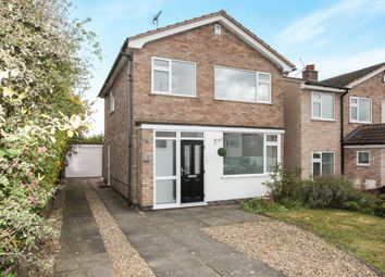 Thumbnail 3 bed detached house for sale in Windrush Drive, Oadby, Leicester